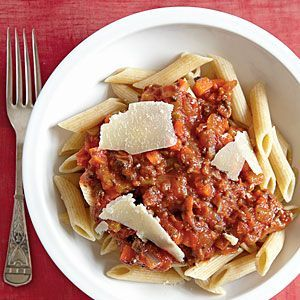 awesome Vegetarian Bolognese with Whole-Wheat Penne Recipe | MyRecipes.com