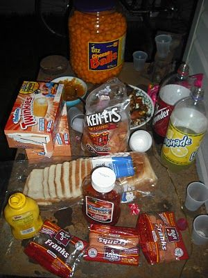 Best And White Trash Party Serving Table