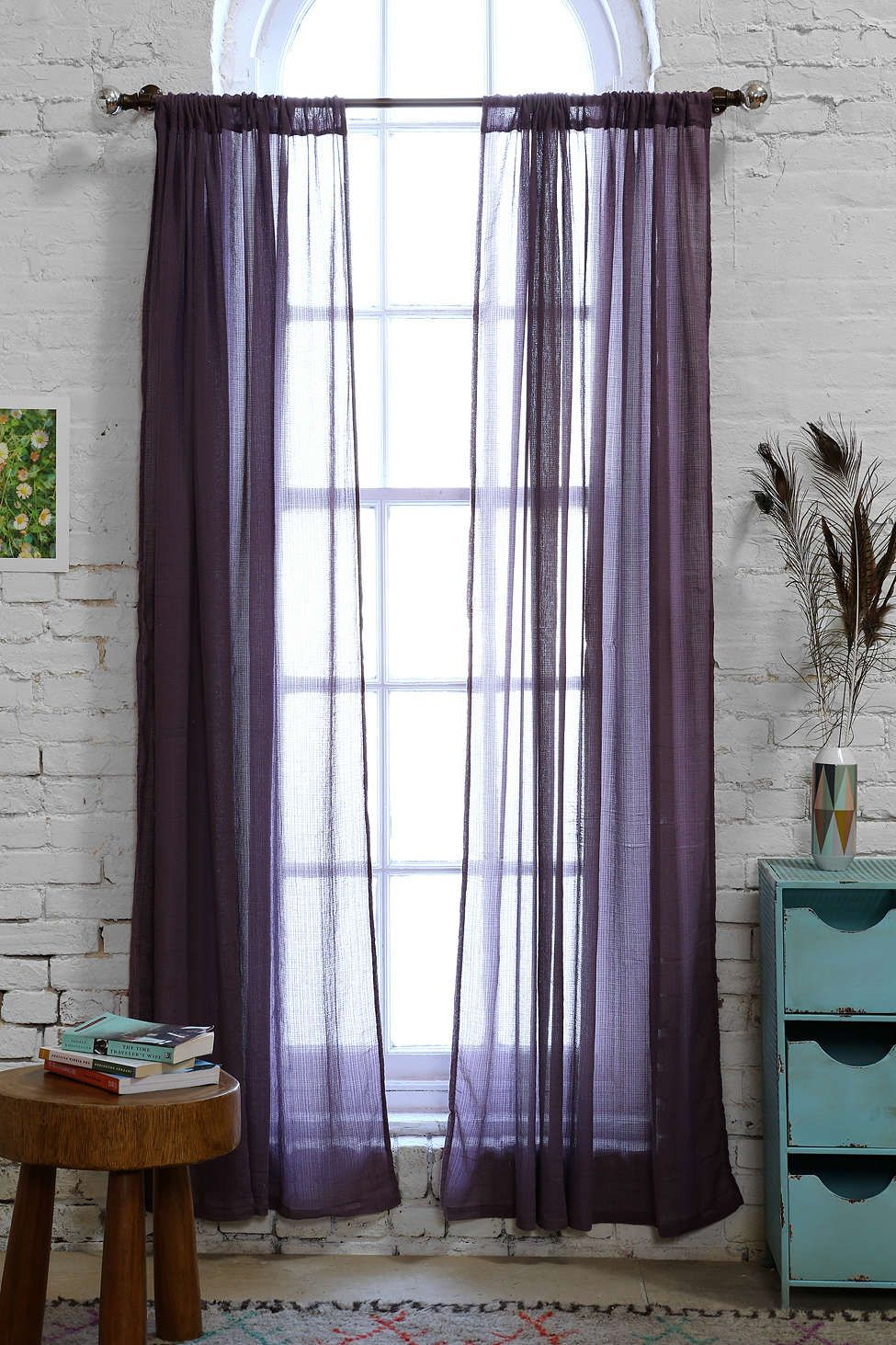 Purple Curtains For Living Room Chloe Gauze Curtain Urban Outfitters The Ojays And Purple