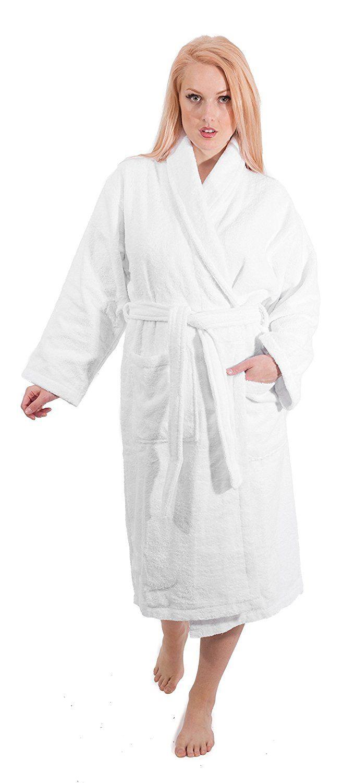 67791f738c7 Luxury Terry Cloth Hotel Bathrobe - Premium 100% Turkish Cotton Robe Unisex  at Amazon Women s Clothing store