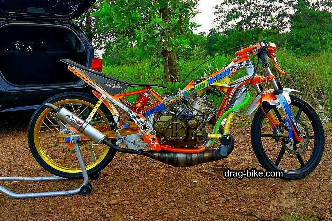 50 Foto Gambar Modifikasi Ninja R Drag Bike Racing Drag Bike Com Sepeda Gambar Karakter Ninja
