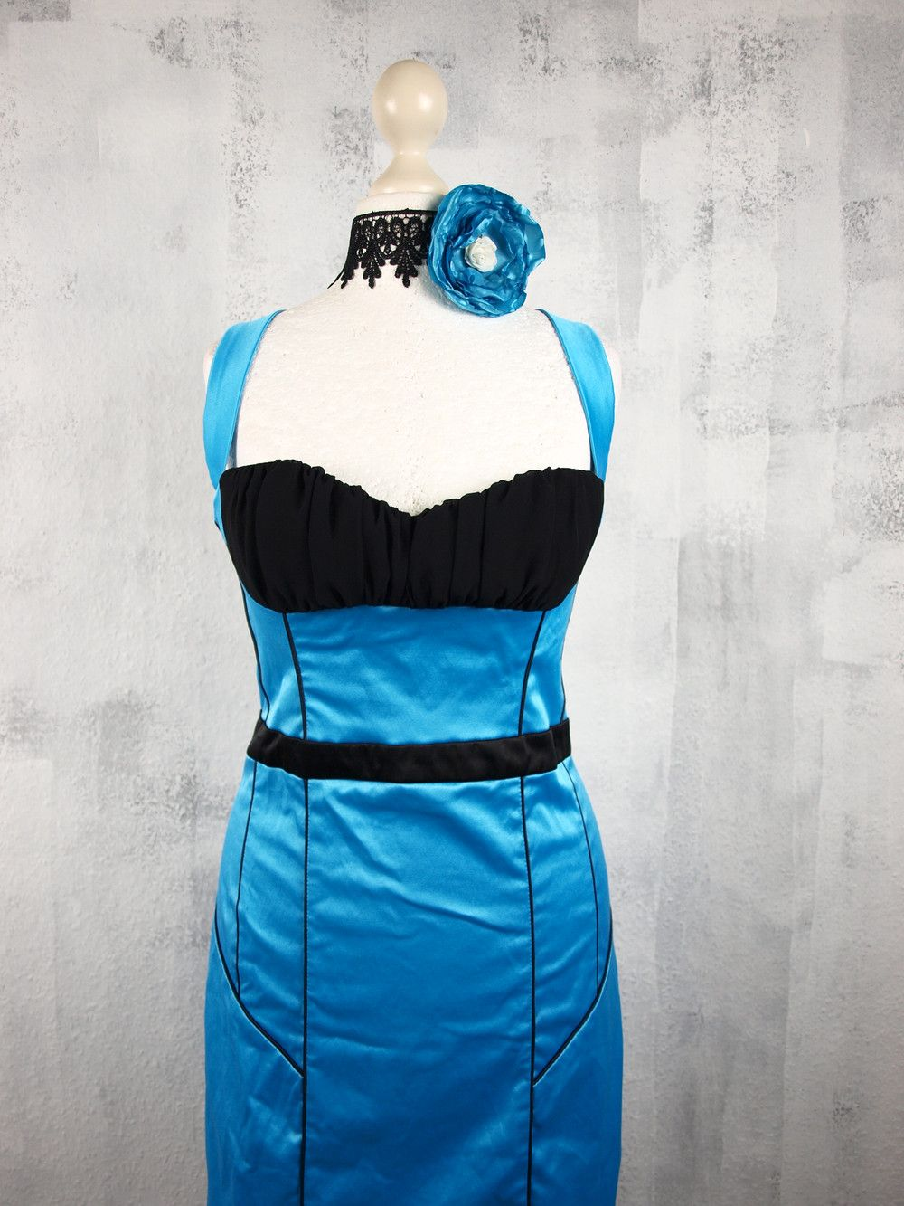 M Vintage Burlesque Kleid Blau Schwarz   Vintage burlesque ...