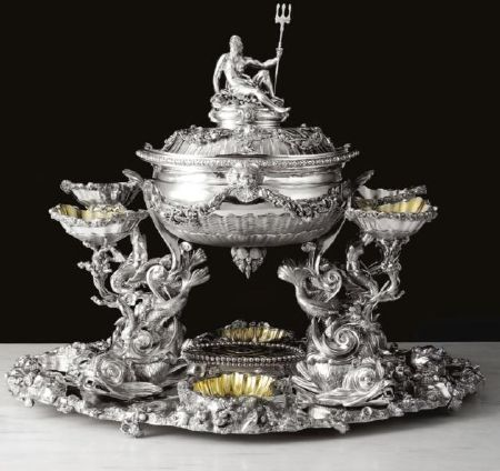 The Fitzgibbon Marine Centerpiece Is A George Iii Silver Created By James Young London 1786