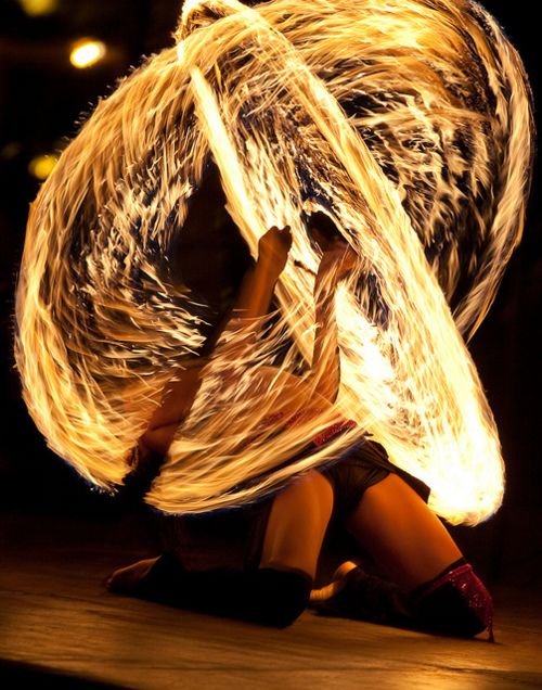 more amazing fire dancing and spinning.