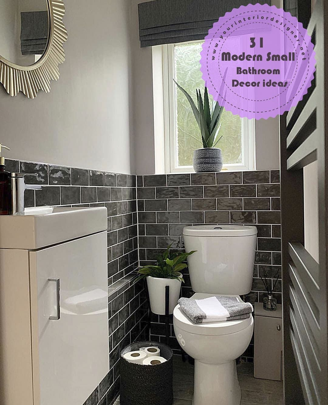 31 Advice For Those Who Want To Modernize Their Small Bathrooms Page 12 Of 31 Your Interior Designer Small Downstairs Toilet Small Toilet Small Toilet Room