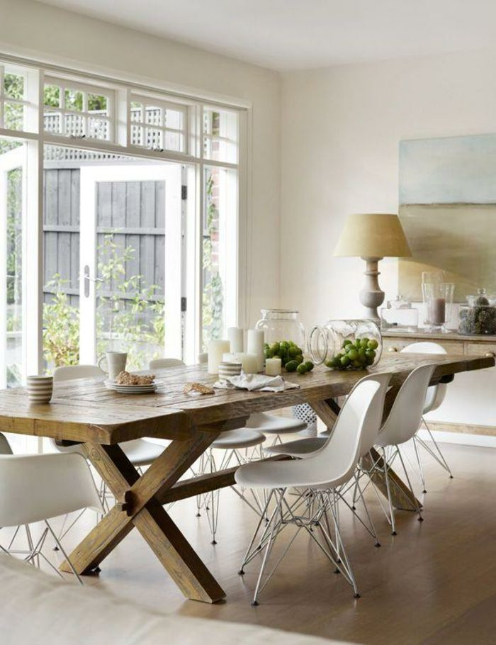 Tisch mit Stühlen landhaus groß holz | Esstisch | Pinterest ...