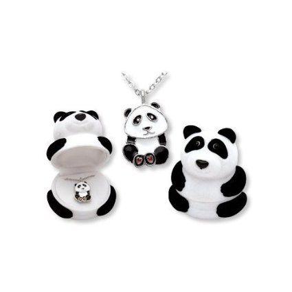 Panda Bear Pendant Necklace in Figural Gift Box