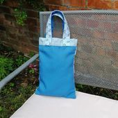 Book Bag  Small Tote Bag  Fun Shopping Bag  Badger Print Buchtasche  kleine