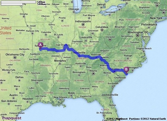 Driving Directions From Ozark Missouri To Myrtle Beach South Carolina Mapquest Wisconsin Dells Mason City Map