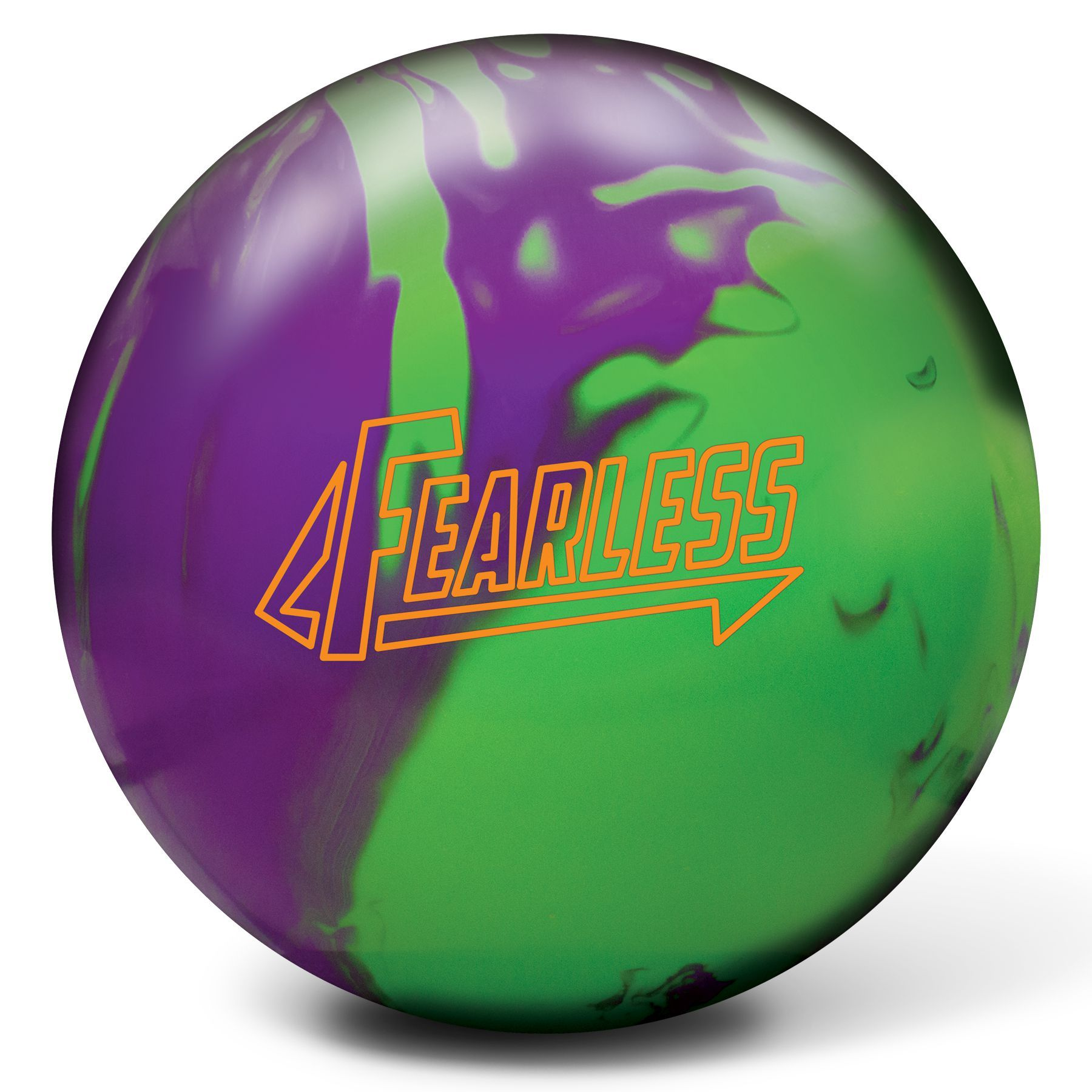 The Brunswick Fearless Is The First Bowling Ball To Feature The Durability Optimization Technology Dot This Technology By Br Bowling Ball Bowling Neon Green