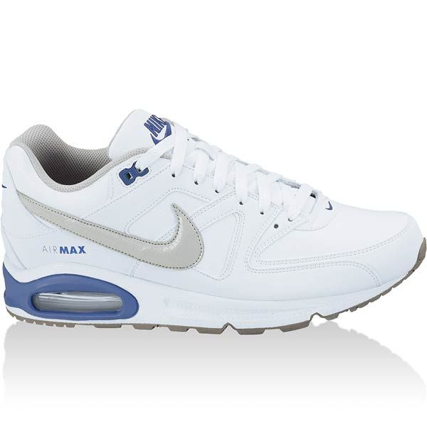 nike AIR MAX COMMAND LEATHER white / gray / royal blue