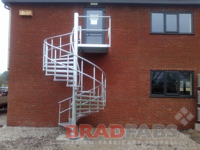 Best Spiral Staircase Fire Escape Steel External Staircase 640 x 480
