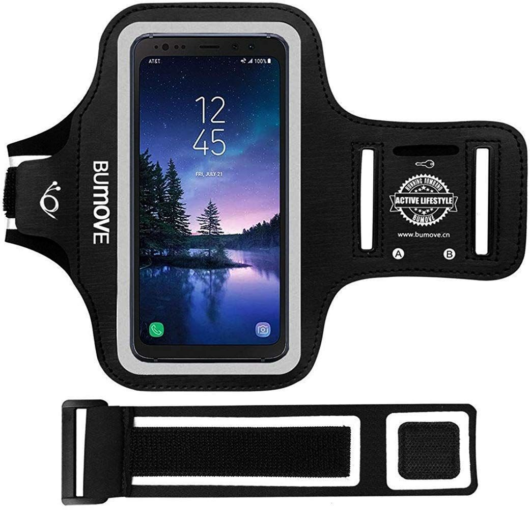 S8 Active/S7 Active ArmbandBUMOVE Gym Running/Workouts Arm Band for Samsung Galaxy S8/S7 Active wit