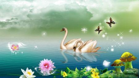Swan lake other wallpaper id 1782953 desktop nexus - Swan wallpapers for desktop ...