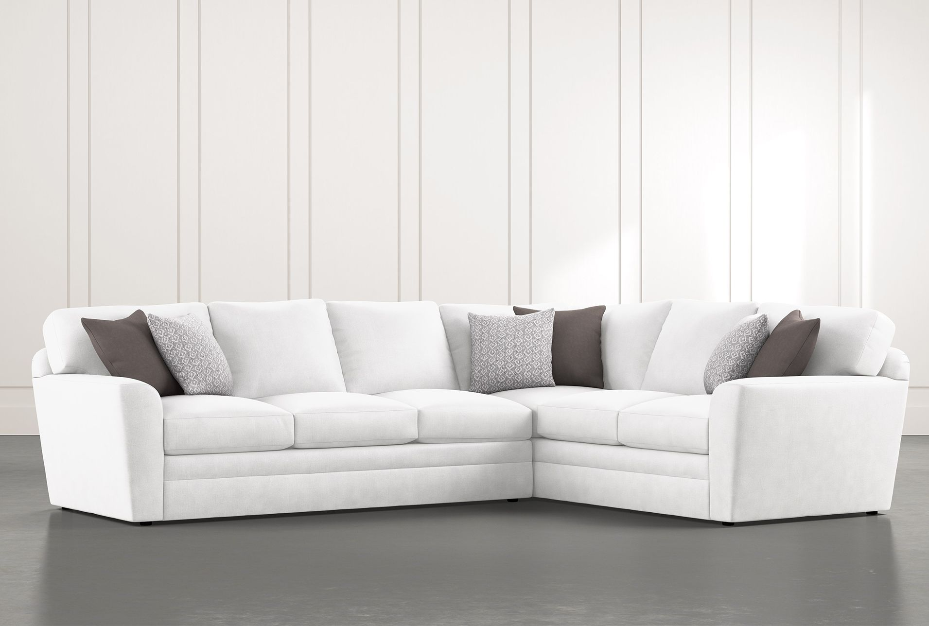Prestige Down 2 Piece Sectional Sofa With Left Arm Facing Sofa