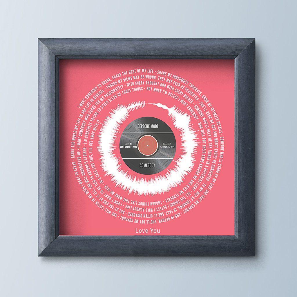 First Dance Song Lyrics Print Wedding Song Gift First
