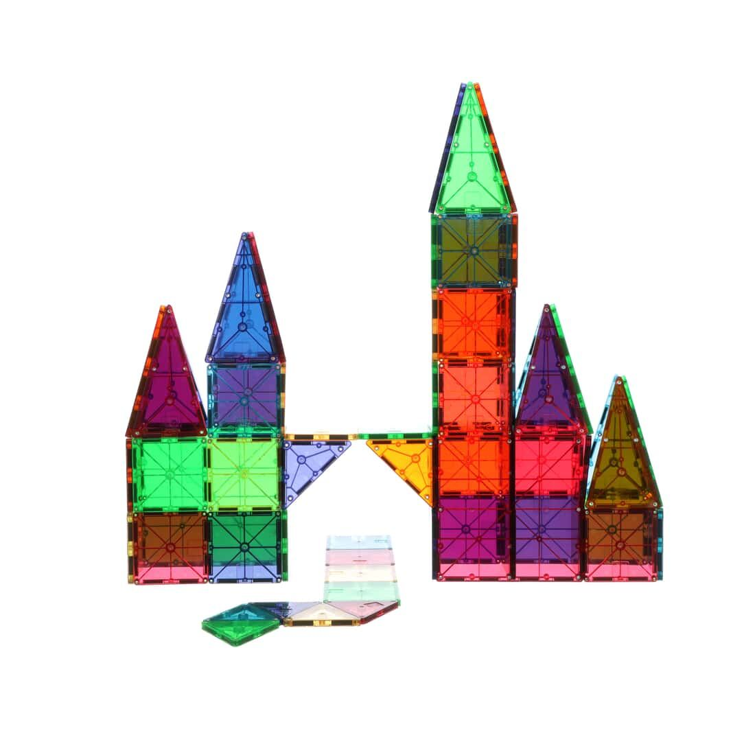 Magna Tiles Clear Colors 100 Piece Set Magna Tiles In 2020 Magna Tiles Magnetic Tiles Tiles