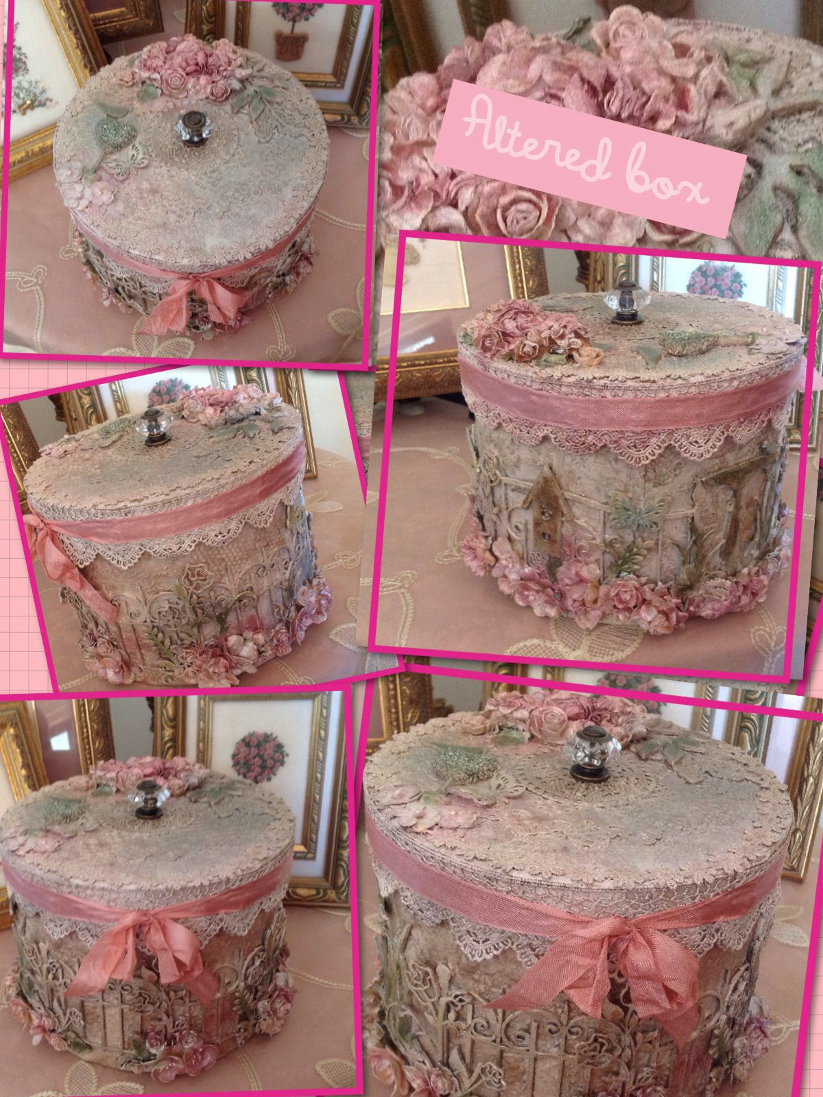 Craft hat boxes - Shabby Chic Altered Box