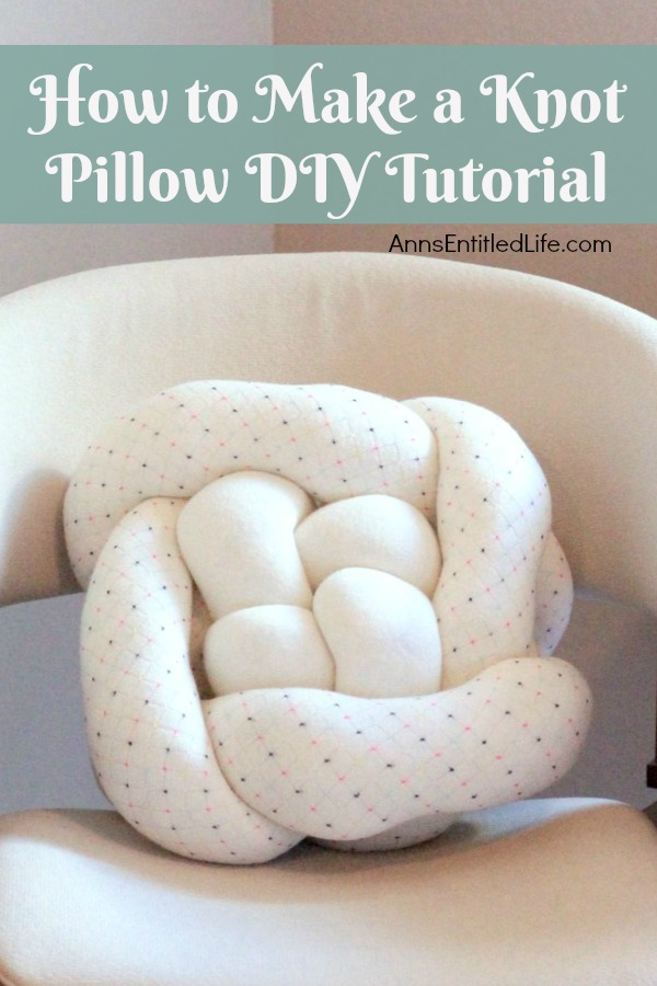 How to Make a Knot Pillow DIY Tutorial. You will not believe how simple it is to...