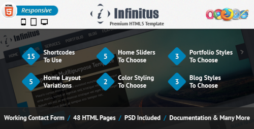 ThemeForest Infinitus Responsive HTML5 Business