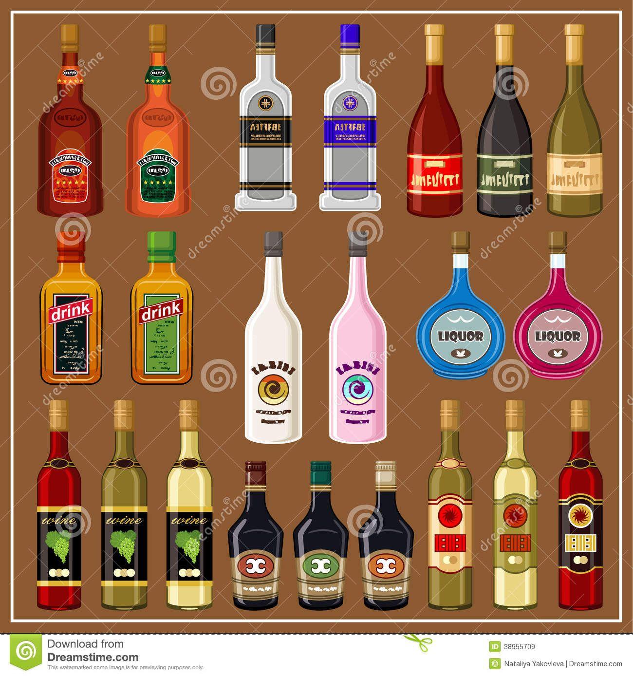 https://thumbs.dreamstime.com/z/set-alcoholic-beverages-nset-bottles-brown-background-38955709.jpg