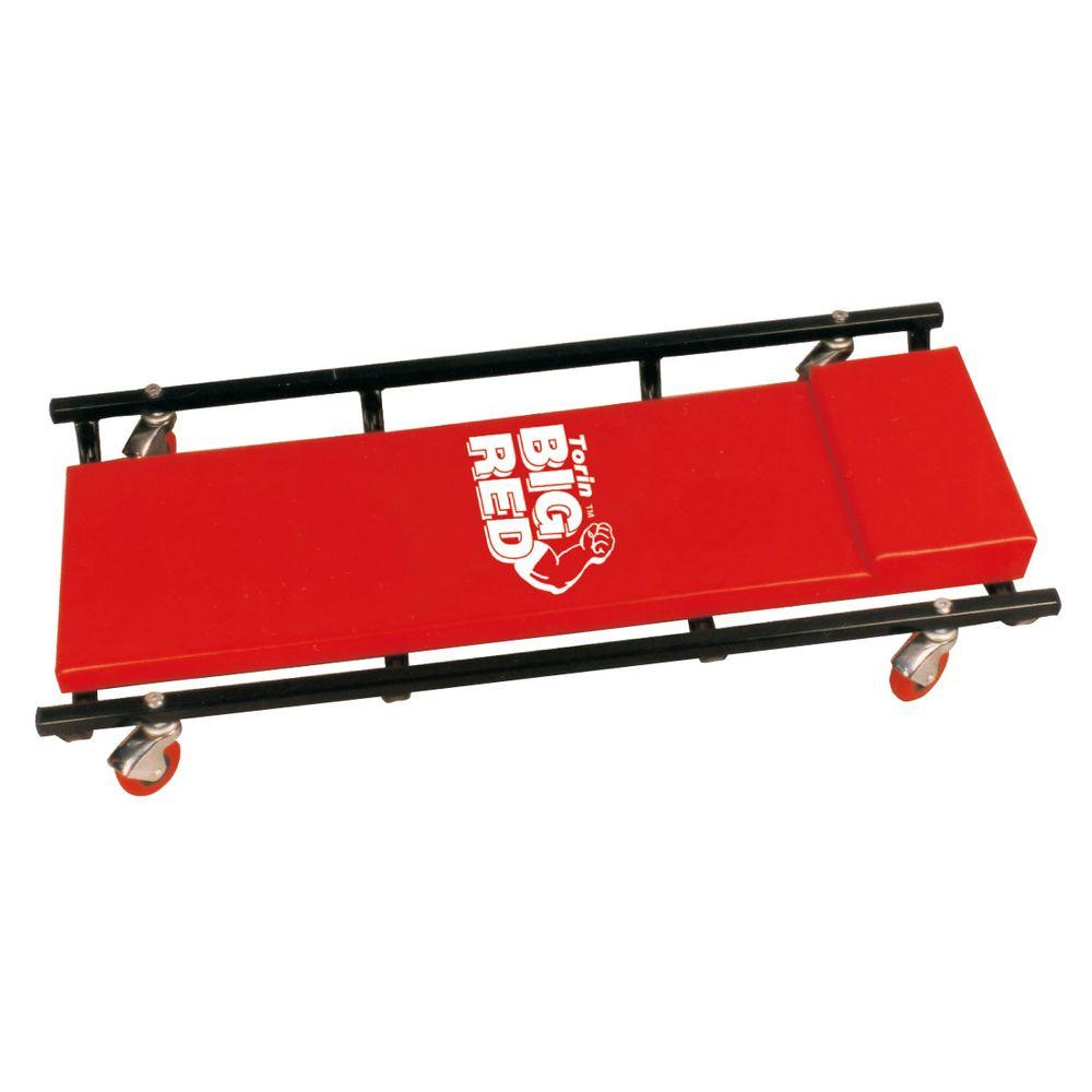 Big Red 200 Lb Capacity 36 In Shop Creeper Tr6453 With Images Steel Frame Steel Frame Construction Shop Bench