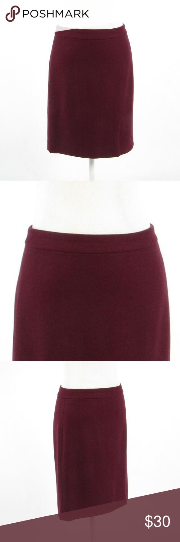 9cccb4d996 J. Crew maroon red pencil skirt 2 Maroon red Pencil skirt Hidden back  zipper Back slit Brand: J. Crew The Pencil Skirt Size: 2 Waist: 28