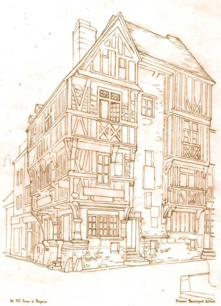 Old houses in bayeux france by built4ever on deviantart