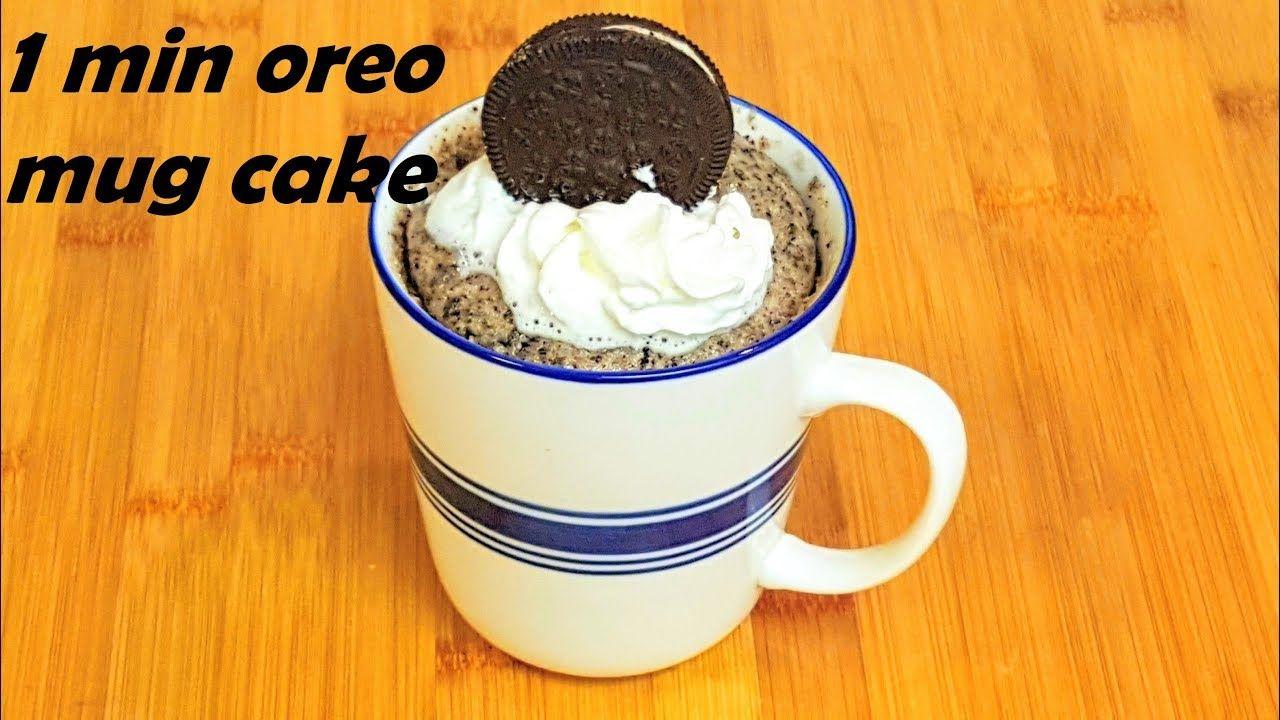 1 minute oreo mug cake eggless oreo mug cake mug cake
