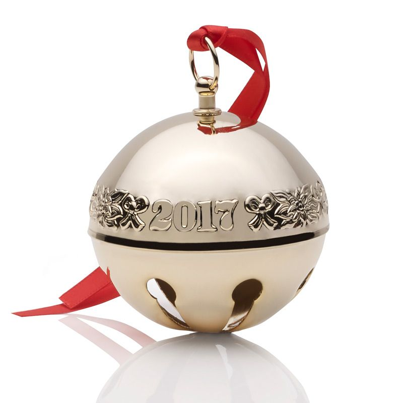 Gold Sleigh Bell Christmas Tree Decoration | Wallace Ornaments | 2017 Gold  Sleigh Bell - 2017 Wallace Gold Sleigh BellGoldplate Christmas Ornament By Wallace