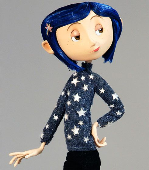 Coraline Costume Inspiration Need Metallic Material To Put Stars On My Blue Sweater Also Need Black Jeans And A Coraline Coraline Costume Coraline Aesthetic