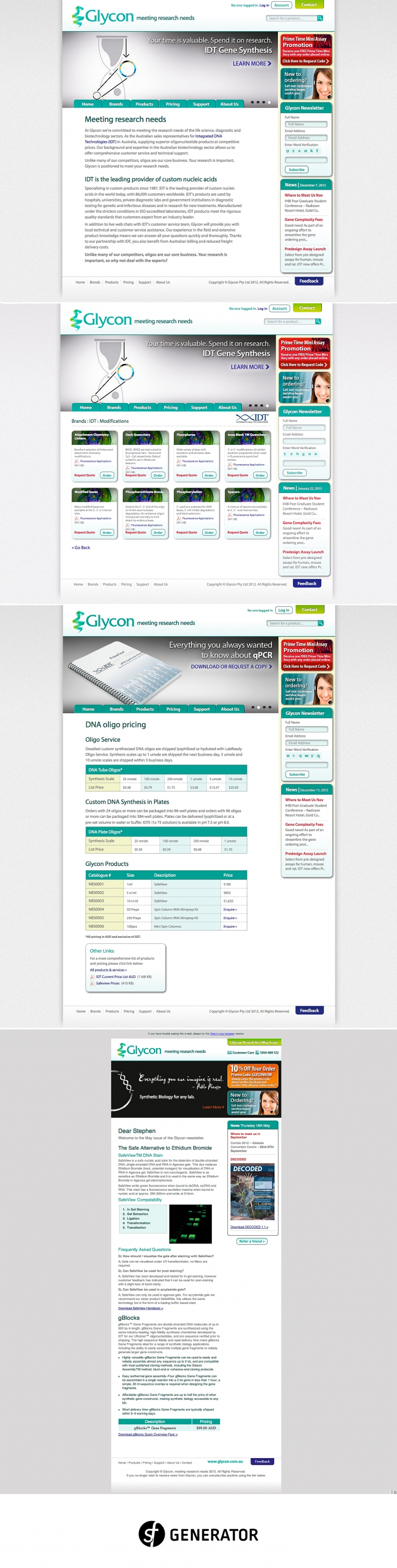 Web design and development of the glycon website and email template web design and development of the glycon website and email template adobe business catalyst was used as the platform to manage client relationships and cheaphphosting Image collections