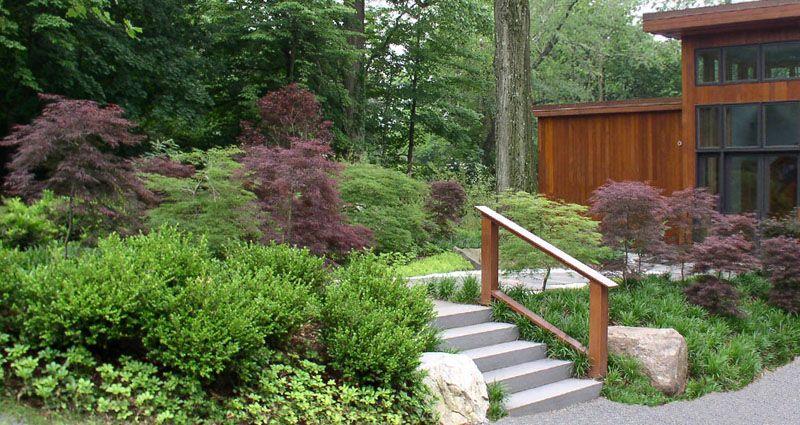 Jardines en desnivel buscar con google jardines en desnivel pinterest jardines - Escaleras jardin ...