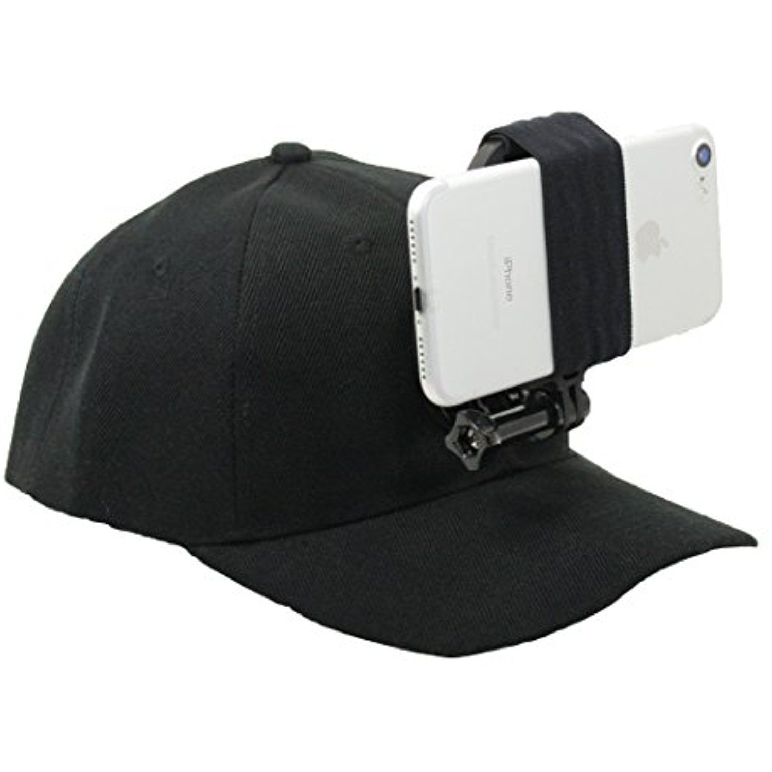 Action Hat Gopro Style Head Mount For Your Smartphone By Action Mount Operable With Any Smartphone Quick Release Sports Camera Wearable Quick Release Buckle