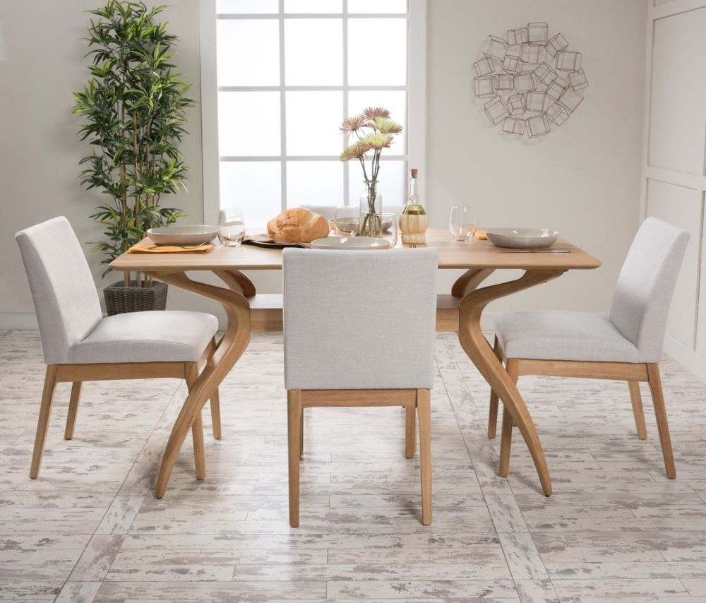 modern retro furniture. 5 Piece Dining Set Wood Table 4 Chair Kitchen Mid Century Modern Retro Furniture