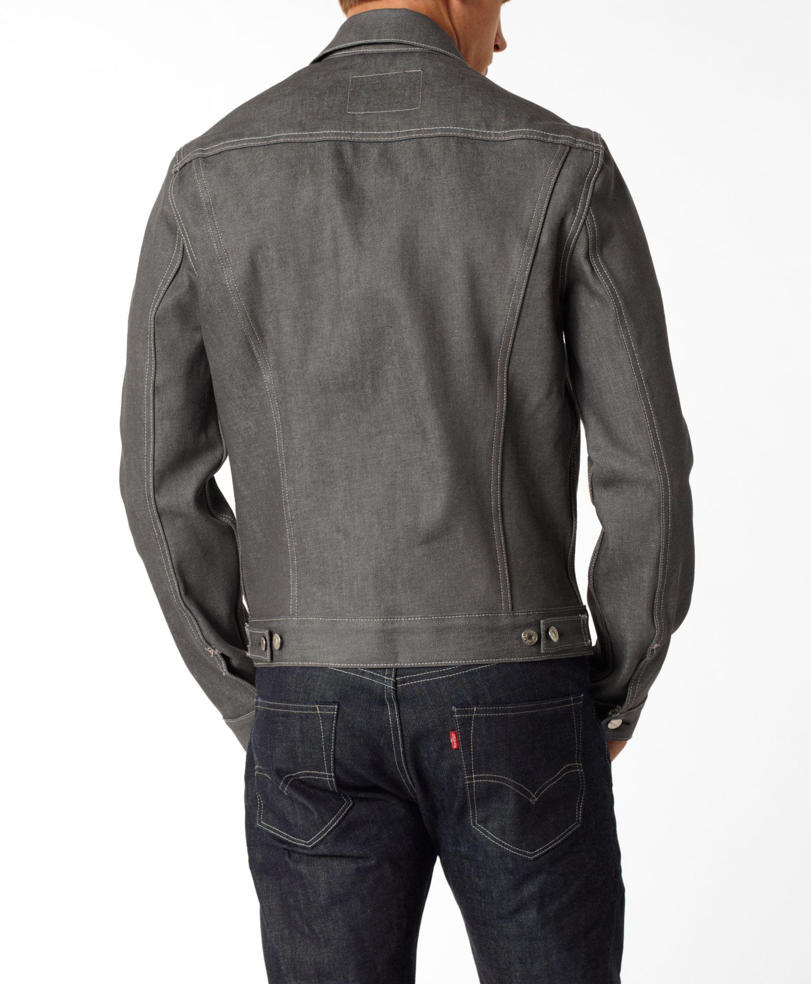 Levi's Standard Trucker Jacket Light Grey Standard Fit