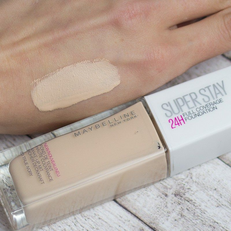 Maybelline 24h Superstay Foundation Full Coverage CdxBeWro