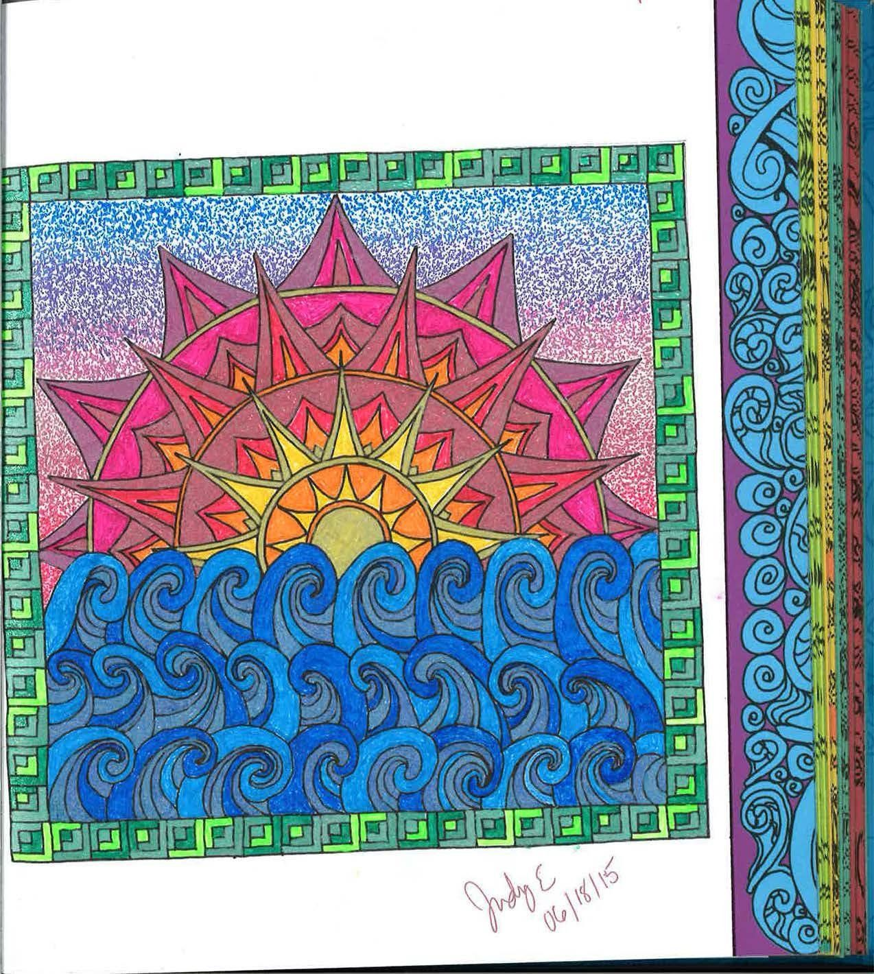 Zen ocean colouring book - Color Me Calm 100 Coloring Templates For Meditation And Relaxation A Zen Coloring Book