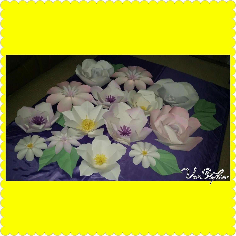 Paper flower backdrop Weddingbabyshowerbirthdayparty decorations