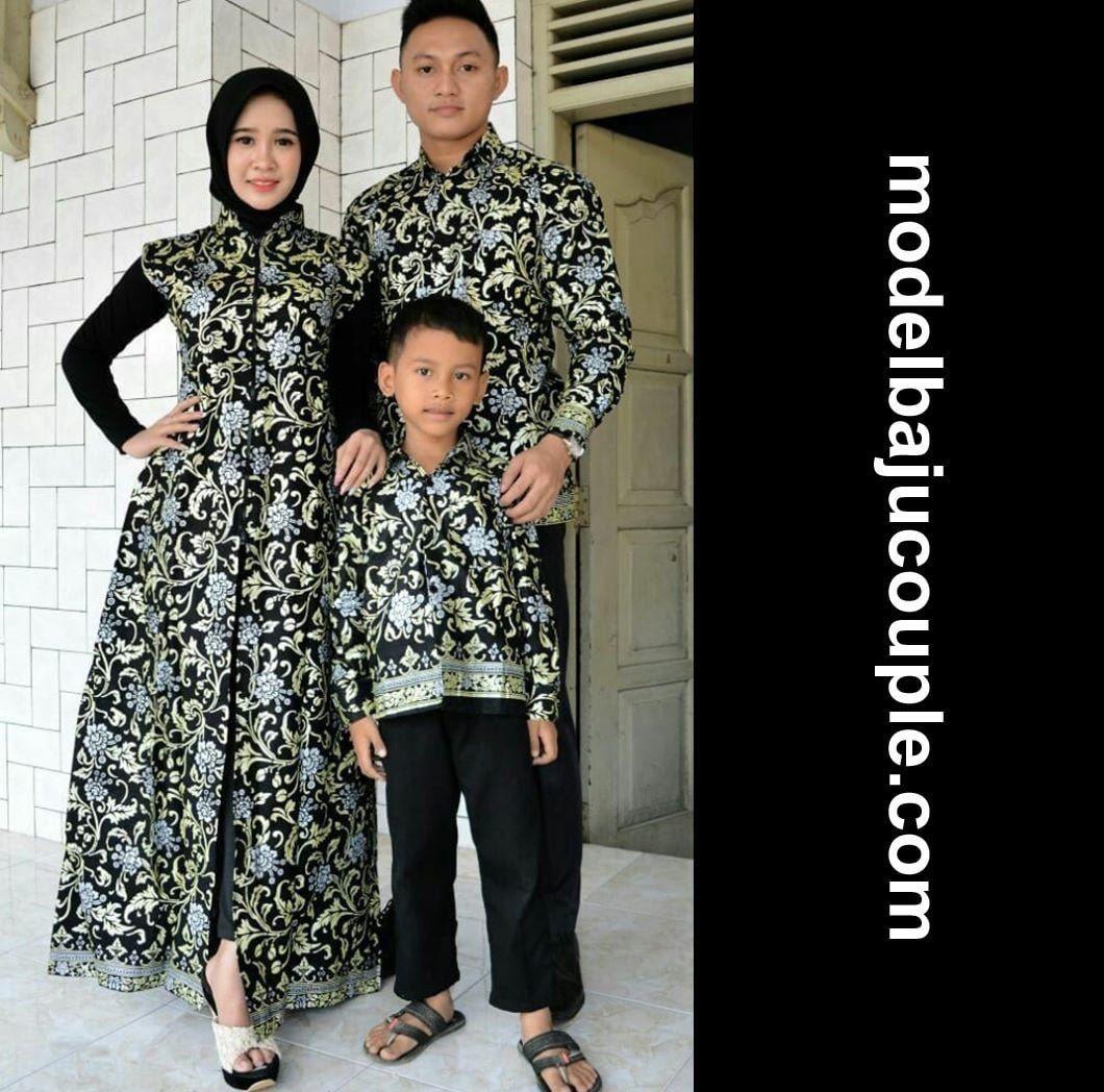 Model Gamis Batik Variasi Brokat Satin di 9  Model, Satin, Cocok