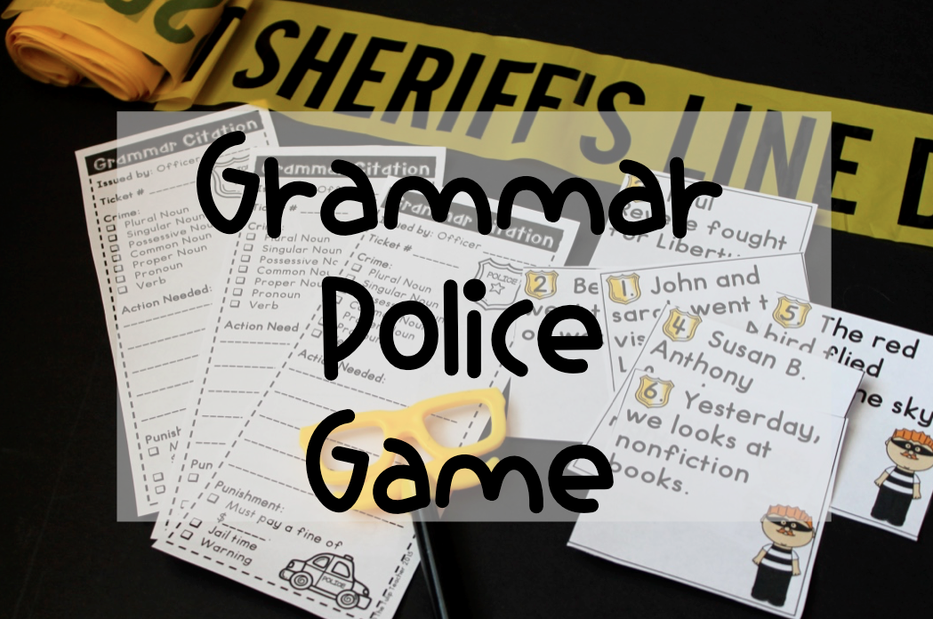 Grammar Police Game Interactive Game Covering Nouns Verbs And Pronouns You Could Transform St Grammar Police Third Grade Activities Parts Of Speech Games