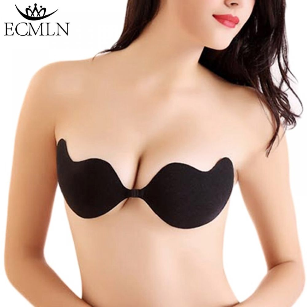 4fe04fd36effe Fly Bra Strapless Silicone Push Up Invisible Bra Self Adhesive Backless  Bralette Lift Bralette Plus Size