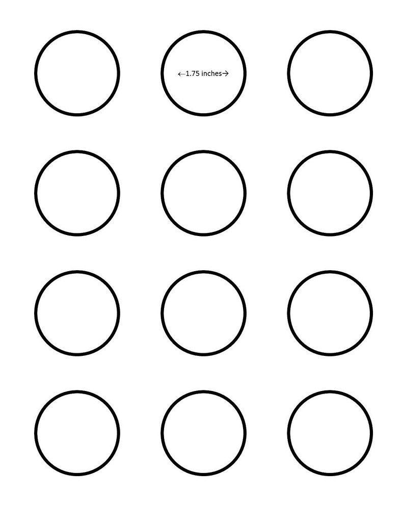 Macaron 175 Inch Circle Template