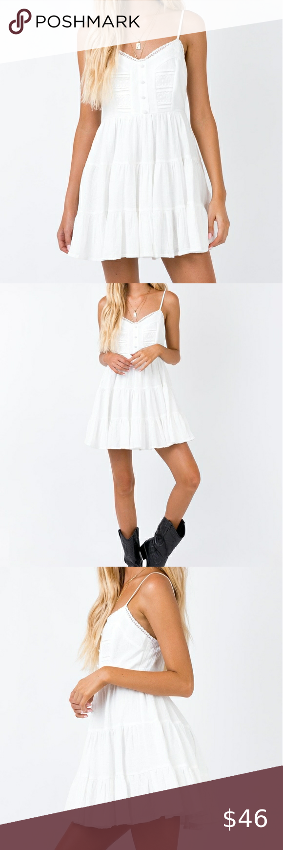 Princess Polly Dlaney White Lace Tiered Mini Dress White Mini Dress Mini Dress Dresses [ 1740 x 580 Pixel ]