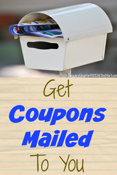 how to get store coupons mailed to you