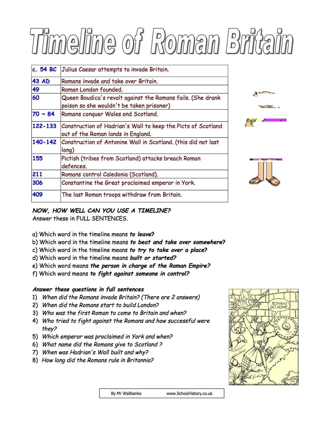 Uncategorized Ancient Rome Worksheets timelineofromanbritain 1 school year pinterest roman britain timeline of facts information