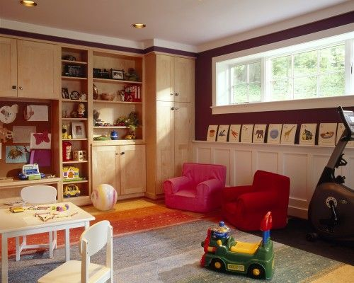 Wonderful Basement Renovation   Bedroom, Playroom, Bathroom, Laundry, Family Room,  Office Contemporary Kids