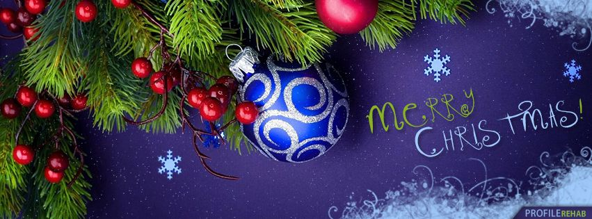 Purple Merry Christmas Facebook Cover | CHRISTMAS, WINTER QUOTES ...
