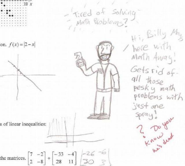funny exam answer