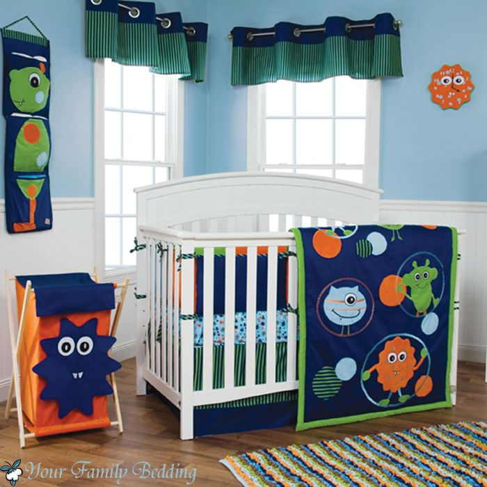 Our Little Baby Boy S Neutral Room: Baby Boy Girl Unisex Neutral Little Monster Alien Crib